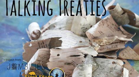 Talking Treaties: Woven Word and Cardboard Creation